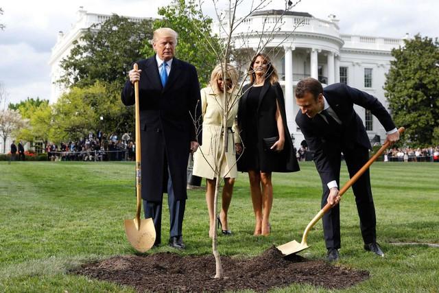 [Chùm ảnh] Quan hệ ấm áp của Tổng thống Pháp - Mỹ - Ảnh 1.