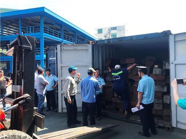 Gần 4 tấn vảy tê tê đột nhập TPHCM qua container chở gỗ   - Ảnh 1.