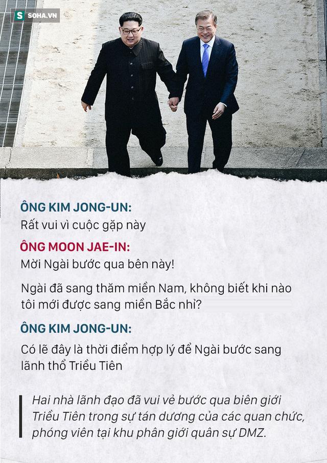 Những đoạn đối thoại thú vị giữa 2 ông Kim Jong-un và Moon Jae-in ở thượng đỉnh liên Triều - Ảnh 2.
