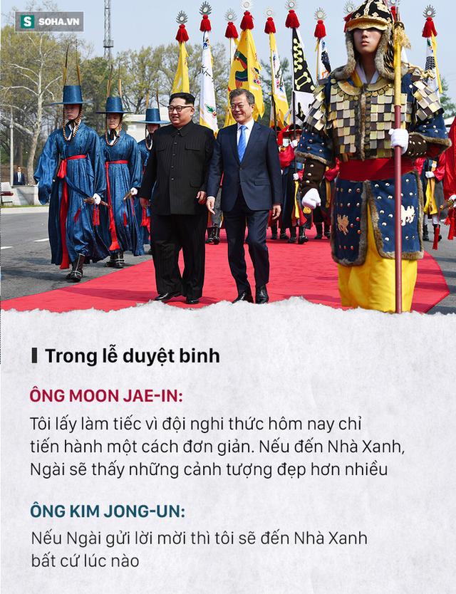 Những đoạn đối thoại thú vị giữa 2 ông Kim Jong-un và Moon Jae-in ở thượng đỉnh liên Triều - Ảnh 3.