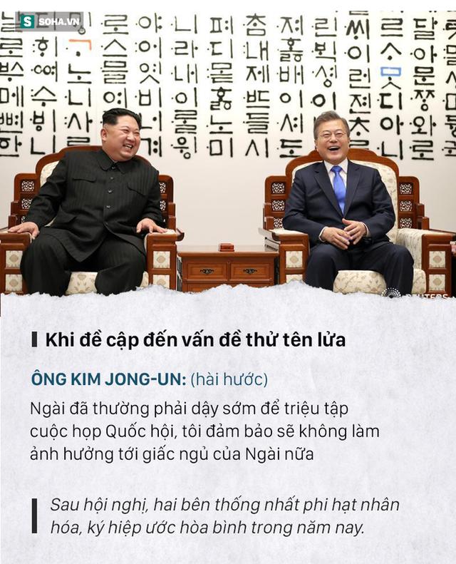 Những đoạn đối thoại thú vị giữa 2 ông Kim Jong-un và Moon Jae-in ở thượng đỉnh liên Triều - Ảnh 5.