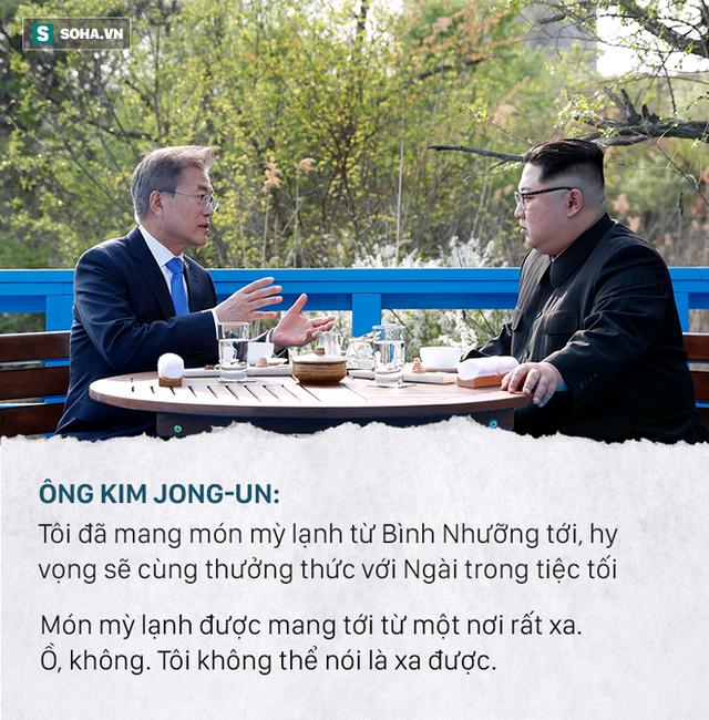 Những đoạn đối thoại thú vị giữa 2 ông Kim Jong-un và Moon Jae-in ở thượng đỉnh liên Triều - Ảnh 7.