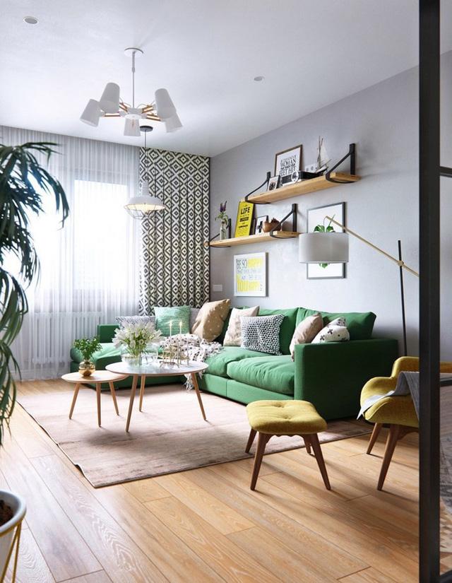 Tạo điểm nhấn siêu xinh với nội thất xanh lá cây - Ảnh 2.