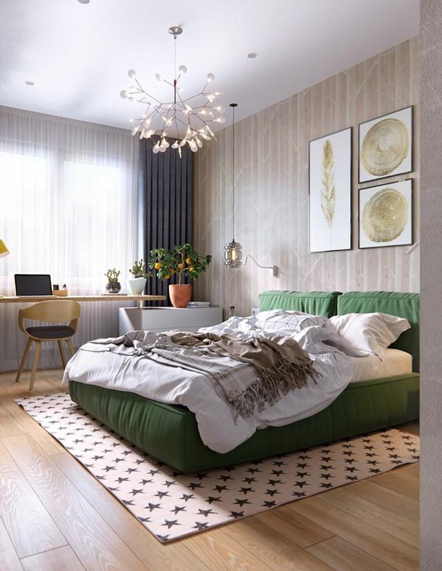 Tạo điểm nhấn siêu xinh với nội thất xanh lá cây - Ảnh 9.