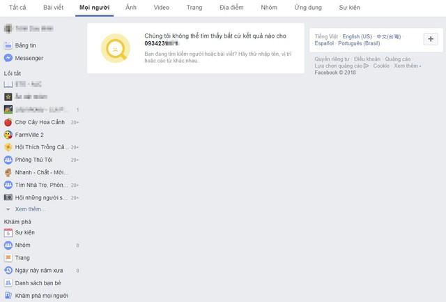 Facebook chặn tính năng tìm kiếm người dùng bằng số điện thoại và email vì  bê