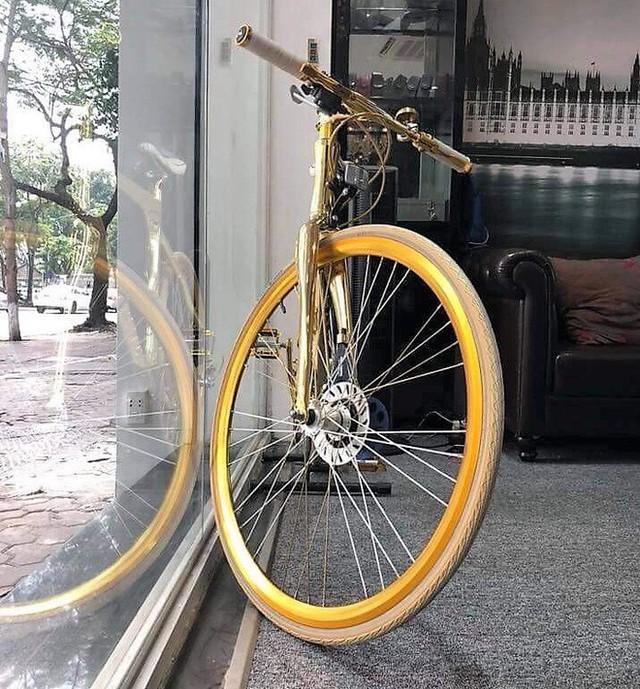 Cận cảnh xe đạp mạ vàng phiên bản giới hạn cực độc, giá 1,2 tỷ đồng tại Hà Nội - Ảnh 9.