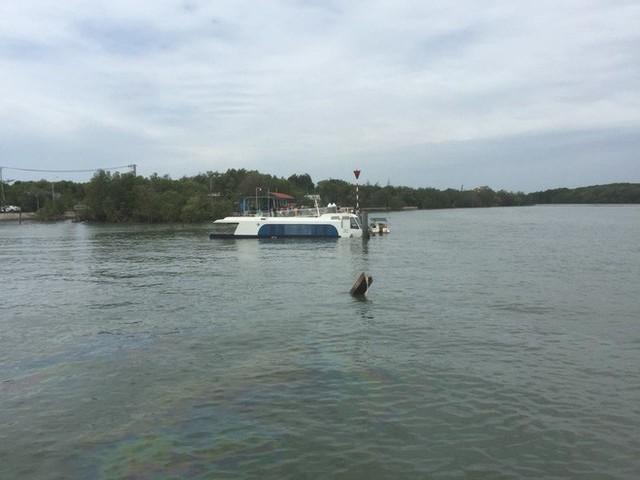 Tàu cao tốc chở 42 người gặp nạn trên sông ở Sài Gòn - Ảnh 1.