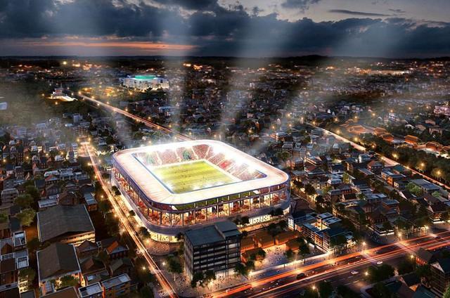 Bầu Hiển xây sân vận động Hàng Đẫy mới 250 triệu Euro trông như sân bóng Ngoại hạng Anh - Ảnh 1.