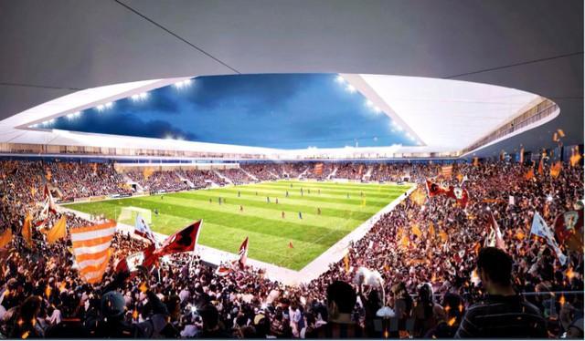 Bầu Hiển xây sân vận động Hàng Đẫy mới 250 triệu Euro trông như sân bóng Ngoại hạng Anh - Ảnh 3.