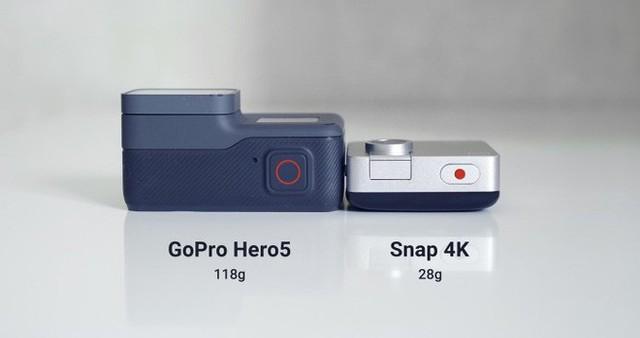 Chỉ nhỏ bằng chiếc bánh quy nhưng có thể quay video 4k, chiếc camera này đang khiến cộng đồng Indiegogo phát sốt - Ảnh 2.