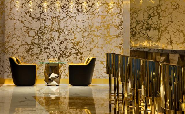 Bên trong nhà hàng xa xỉ phục vụ đồ ăn làm từ vàng ở Dubai - Ảnh 10.