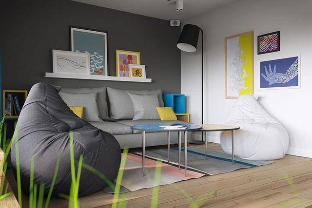 Căn hộ 34 m2 kết hợp phòng khách và phòng ngủ tiện lợi - Ảnh 2.