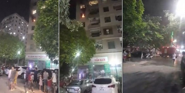 Cháy chung cư Vinaconex ở Hà Nội, cư dân hoảng loạn tháo chạy - Ảnh 1.