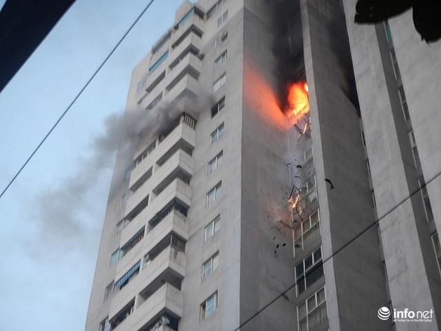 Hà Nội: Cháy ở toà chung cư CT3 Bắc Hà trên một vài con phố Nguyễn Trãi - Ảnh 2.