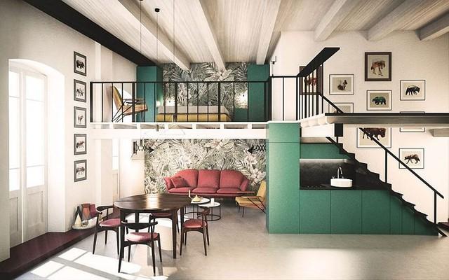 Ngôi nhà trang trí màu sắc tuyệt đẹp theo phong 1 vàih Ý - Ảnh 1.