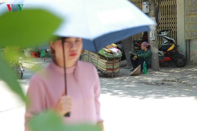 Dân Hà Nội khổ sở tìm cách chống nắng nóng đầu hè - Ảnh 3.