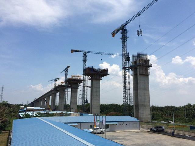 Ngắm cầu dây văng Bình Khánh cao nhất Việt Nam dần hiện hữu - Ảnh 2.
