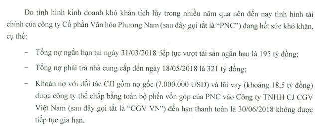 Lỗ lớn nợ nhiều, Phương Nam (PNC) thoái vốn khỏi chuỗi rạp CGV để lấy tiền trả nợ - Ảnh 1.