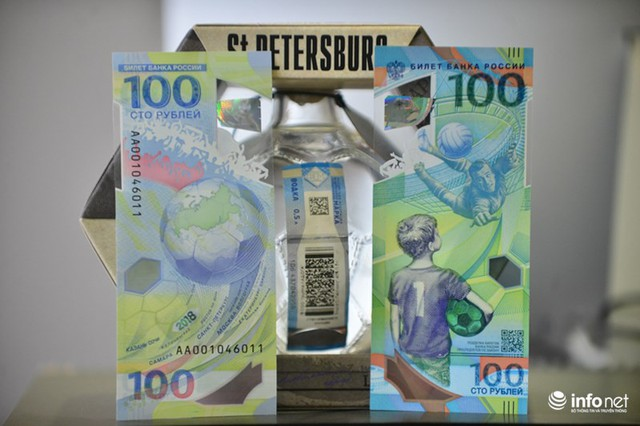 Những hình ảnh lạ trên tờ tiền 100 Ruble Nga khiến giới hâm mộ bóng đá săn lùng - Ảnh 3.