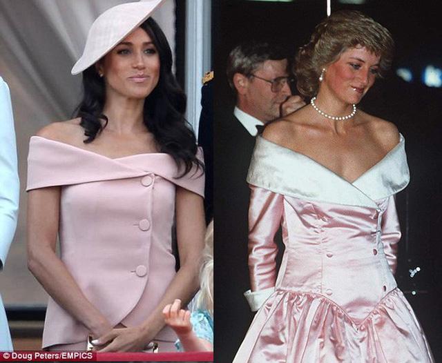 Nhiều đồn đoán cho rằng bộ đồ phá vỡ quy tắc của Meghan Markle được lấy cảm hứng từ trang phục của Công nương Diana - Ảnh 6.