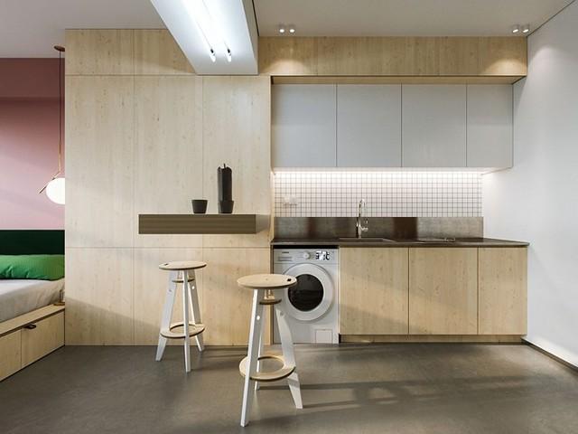 Căn hộ 23 m2 kiến trúc theo phong một vàih tối giản - Ảnh 1.