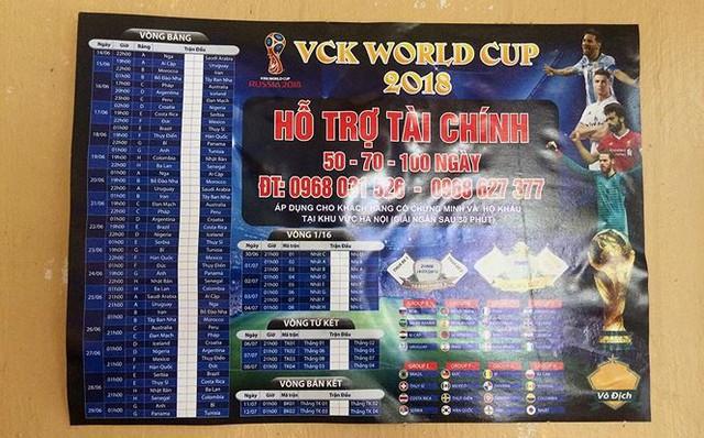 Cầm đồ, cho vay tín dụng đen chạy đua mùa World Cup - Ảnh 1.