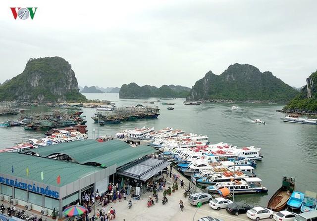 5.000 khách kẹt trên đảo Cô Tô đang di chuyển về đất liền - Ảnh 1.