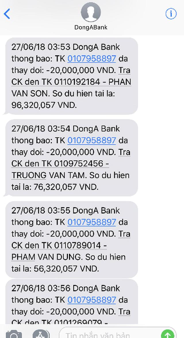 Chủ thẻ ATM DongA bank liên tiếp báo mất tiền trong tài khoản - Ảnh 1.