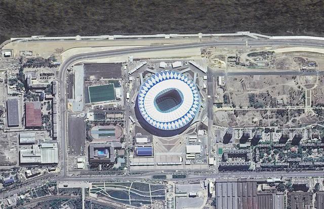 12 sân vận động phục vụ World Cup 2018 nhìn từ vệ tinh - Ảnh 11.