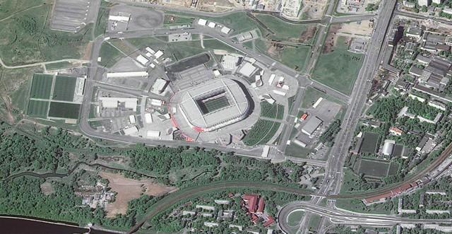 12 sân vận động phục vụ World Cup 2018 nhìn từ vệ tinh - Ảnh 7.