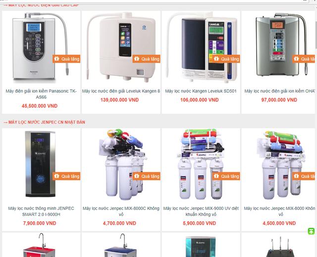 Ma trận máy lọc nước, người tiêu dùng chỉ biết đặt niềm tin - Ảnh 1.