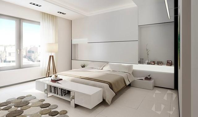 Phòng ngủ trang trí tối giản mà vẫn đẹp tiên tiến - Ảnh 4.