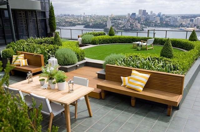 Ý tưởng thiết kế vườn trên sân thượng tuyệt đẹp - Ảnh 1.