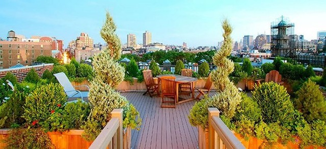 Ý tưởng thiết kế vườn trên sân thượng tuyệt đẹp - Ảnh 8.