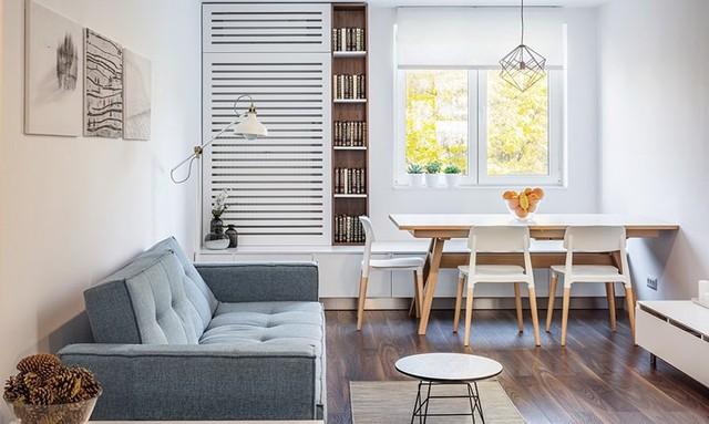 Cách trang trí nhẹ nhàng, hấp dẫn trong căn hộ chung cư 1 phòng ngủ - Ảnh 1.
