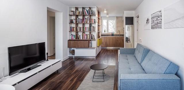 Cách trang trí nhẹ nhàng, hấp dẫn trong căn hộ chung cư 1 phòng ngủ - Ảnh 2.