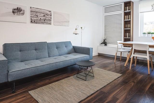 Cách trang trí nhẹ nhàng, hấp dẫn trong căn hộ chung cư 1 phòng ngủ - Ảnh 3.
