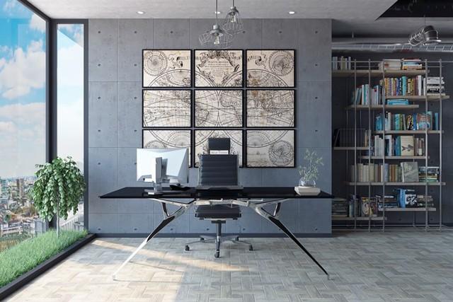 Ý tưởng trang trí phòng làm việc tại nhà hiện đại, phong cách - Ảnh 2.