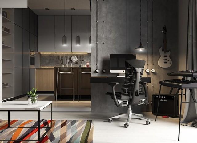 Ý tưởng trang trí phòng làm việc ở nhà hiện đại, phong cách - Ảnh 3.