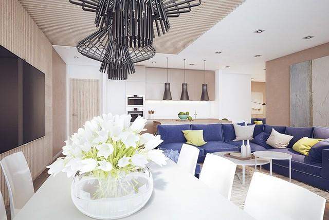 Nội thất nhà có màu sắc sống động tạo ấn tượng đẹp mắt - Ảnh 3.