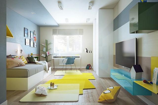 Nội thất nhà có màu sắc sống động tạo ấn tượng đẹp mắt - Ảnh 5.