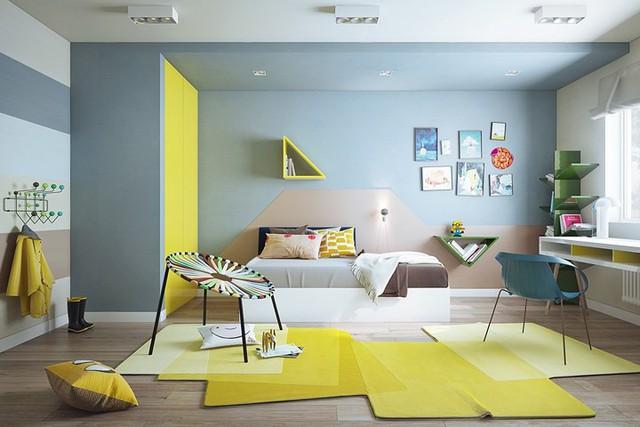 Nội thất nhà có màu sắc sống động tạo ấn tượng đẹp mắt - Ảnh 6.