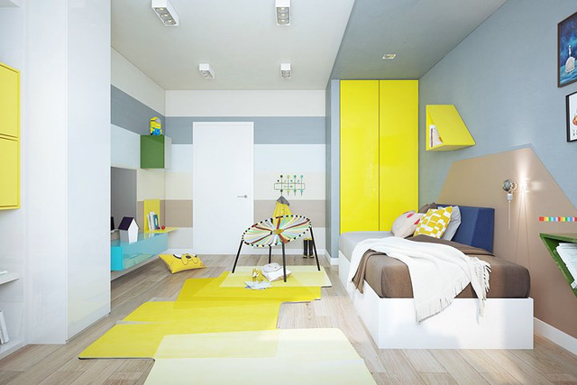 Nội thất nhà có màu sắc sống động tạo ấn tượng đẹp mắt - Ảnh 7.