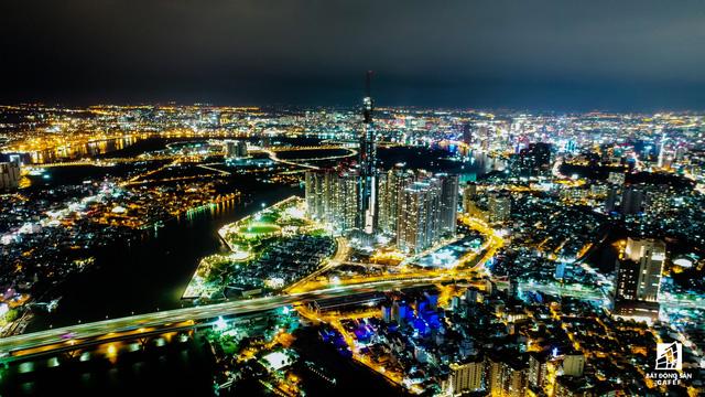 Tòa nhà cao nhất Việt Nam lung linh về đêm giữa Sài Gòn - Ảnh 6.