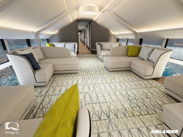 Choáng ngợp với nội thất đẳng cấp xa hoa bên trong chiếc  máy bay lớn nhất thế giới - Ảnh 1.