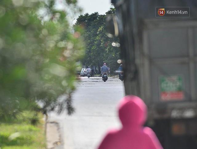 Hà Nội: Mặt đường bốc hơi dưới cái nắng nóng 40 độ, công nhân công ty cây xanh phải che lá chống nắng - Ảnh 4.