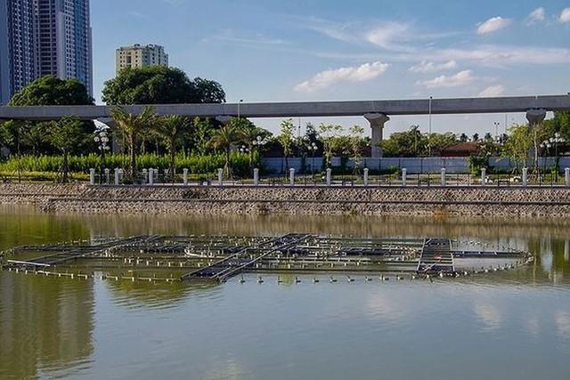 Các dự án công viên, hồ điều hòa Hà Nội ngổn ngang dưới nắng 40 độ - Ảnh 5.