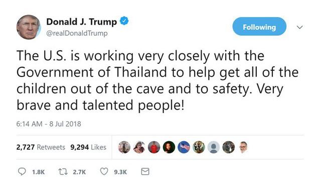 Thái Lan giải cứu thành công 6 cầu thủ nhí, TT Trump liền tuyên bố Mỹ cũng góp sức - Ảnh 1.