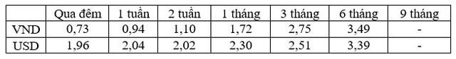 Lãi suất USD liên ngân hàng cao gấp hơn 2 lần so với lãi suất VND - Ảnh 1.