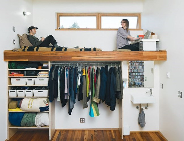 Ý tưởng thiết kế tuyệt vời cho phòng ngủ nhỏ hẹp - Ảnh 1.